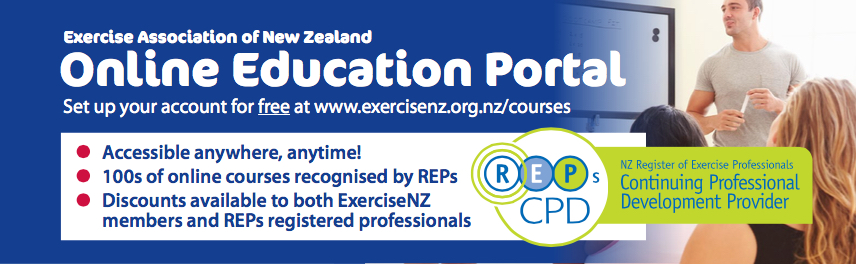 ExerciseNZ Education Portal banner