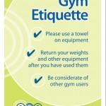 Gym Etiquette Signs